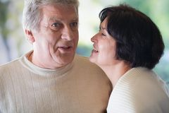 Happy mature couple, outdoor Stock Photo