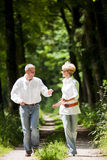 Happy mature couple outdoors Royalty Free Stock Photos
