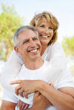 Happy mature couple outdoors stock image