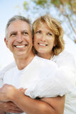 Happy mature couple outdoors Stock Photography