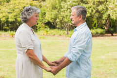 Happy mature couple in park Royalty Free Stock Images