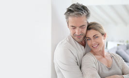 Happy mature couple in serenity of their home Royalty Free Stock Photos
