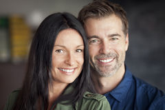 Happy Mature Couple. Smiling At The Camera stock photos