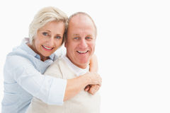 Happy mature couple smiling at camera Stock Images