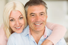 Happy mature couple smiling together Stock Image