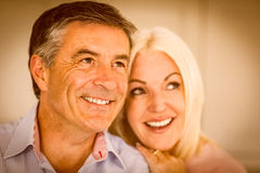 Happy mature couple smiling together Stock Photo
