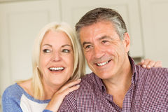 Happy mature couple smiling together Stock Photography