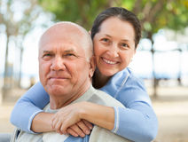 Happy mature couple together Stock Images