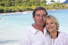Happy mature couple in the tropics Stock Photography