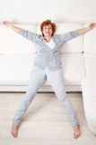 Happy mature female at home Stock Photography