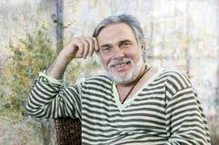 Happy mature man Stock Images