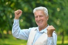 Happy mature man Royalty Free Stock Photo