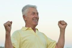 Happy mature man Stock Image