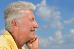 Happy mature man Royalty Free Stock Images