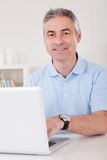 Happy mature man Stock Photos