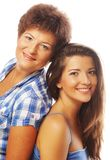 Happy mature mother and adult daughter Stock Images