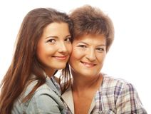 Happy mature mother ang adult daughter Royalty Free Stock Photos