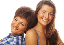 Happy mature mother ang adult daughter Royalty Free Stock Image