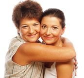 Happy mature mother ang adult daughter Stock Photo