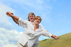 Happy mature pair Royalty Free Stock Photography