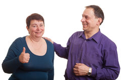 Happy mature pair. Royalty Free Stock Photography