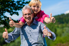 Happy mature or senior couple having walk Royalty Free Stock Photo