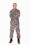 Happy Mature Soldier Royalty Free Stock Photography