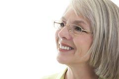 Happy mature woman stock photos