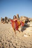 Happy Mature Woman at Beach Stock Photo