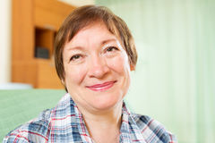 Happy mature woman Royalty Free Stock Image