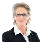 Happy Mature Woman With Glasses Royalty Free Stock Photography