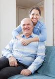 Happy mature woman with husband Stock Images