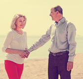 Happy mature woman with  man together Royalty Free Stock Photos