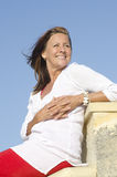 Happy mature woman positive outdoor Stock Image
