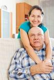 Happy mature woman with senior husband Stock Photo