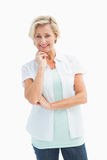 Happy mature woman smiling at camera Stock Photography