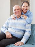 Happy mature woman with smiling husband Royalty Free Stock Images