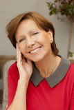 Happy mature woman smiling Royalty Free Stock Image