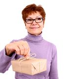 Attractive, funny mature woman with surprise Royalty Free Stock Image