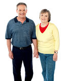 Happy matured couple posing Royalty Free Stock Photo