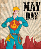 Happy May Day celebration. In vector Royalty Free Stock Photography