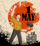 Happy May Day celebration. In vector Stock Image
