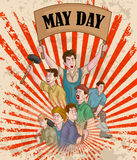 Happy May Day celebration. In vector Stock Photo