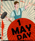 Happy May Day celebration. In vector Stock Images