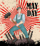 Happy May Day celebration Royalty Free Stock Photography
