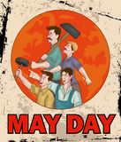 Happy May Day celebration. In vector Stock Photos