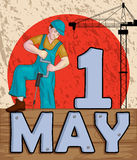 Happy May Day celebration Stock Photos