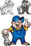 Happy mechanic Stock Images