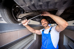 Happy mechanic Stock Photography