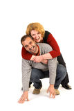 Happy med age couple Royalty Free Stock Image